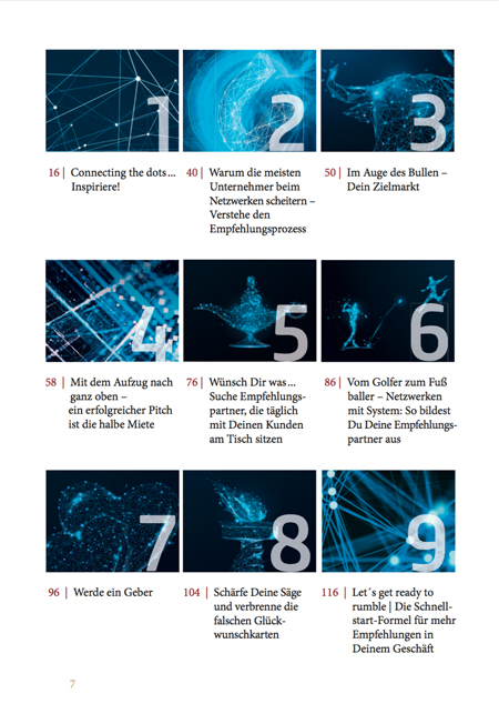 Inhaltsverzeichnis und kapitel aus der empfehlungsmagnet